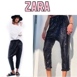 Zara sequin evening harem trousers